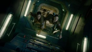Jake Gyllenhaal and Rebecca Ferguson star in creepy sci-fi flick Life.