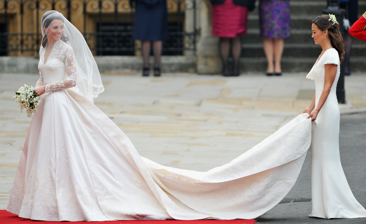 Kate Middleton (left) was famously upstaged at her wedding by her sister and bridesmaid, Pippa. Photo: Getty