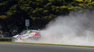 Supercars star Craig Lowndes was one of the first casualties of the blowout epidemic that has plagued the Phillip Island event.