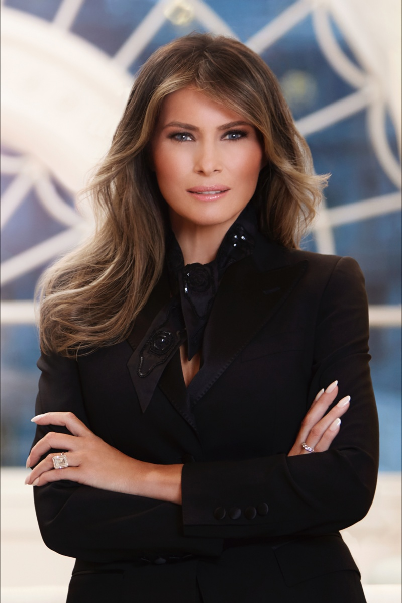 The official White House portrait of the First Lady. Photo: Getty