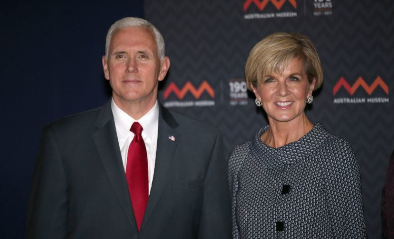 """North Korea accused Foreign Minister Julie Bishop of """"spouting a string of rubbish"""" after talks with US Vice President Mike Pence."""
