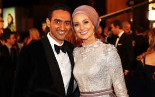Last year's Gold Logie winner Waleed Aly and his wife Dr Susan Carland kick off the red carpet.