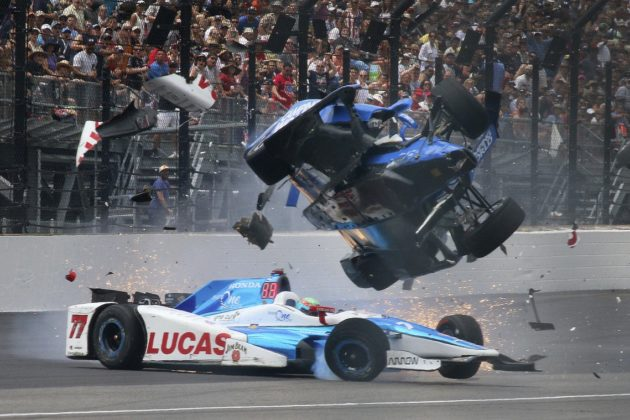 Scott Dixon crash