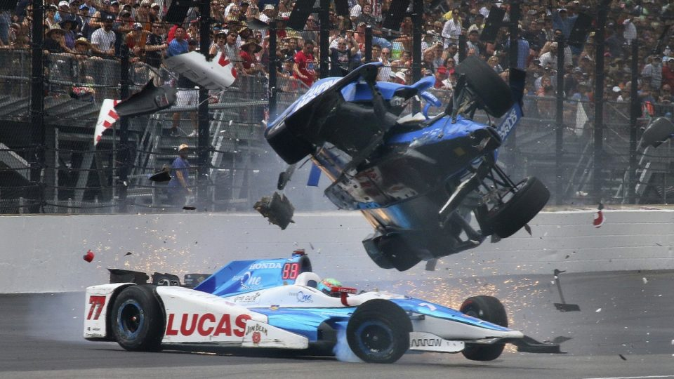 Scott Dixon crash