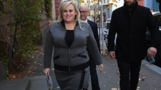 Rebel Wilson arrives at court
