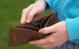 wallet no money cashless poor broke