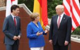 Merkel, Trudeau and Trump