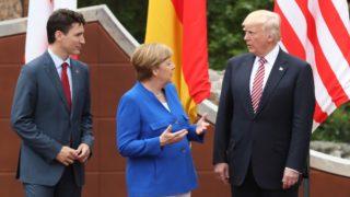 Merkel, Trudeau and Trump