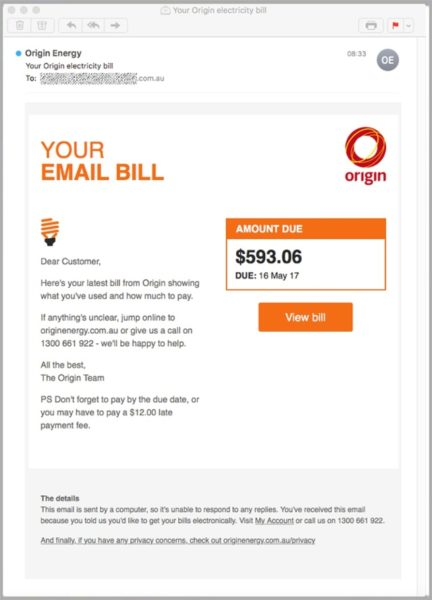 Origin Energy scam