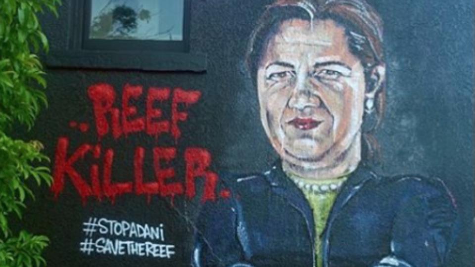 Annastacia Palaszczuk Adani coal mine mural