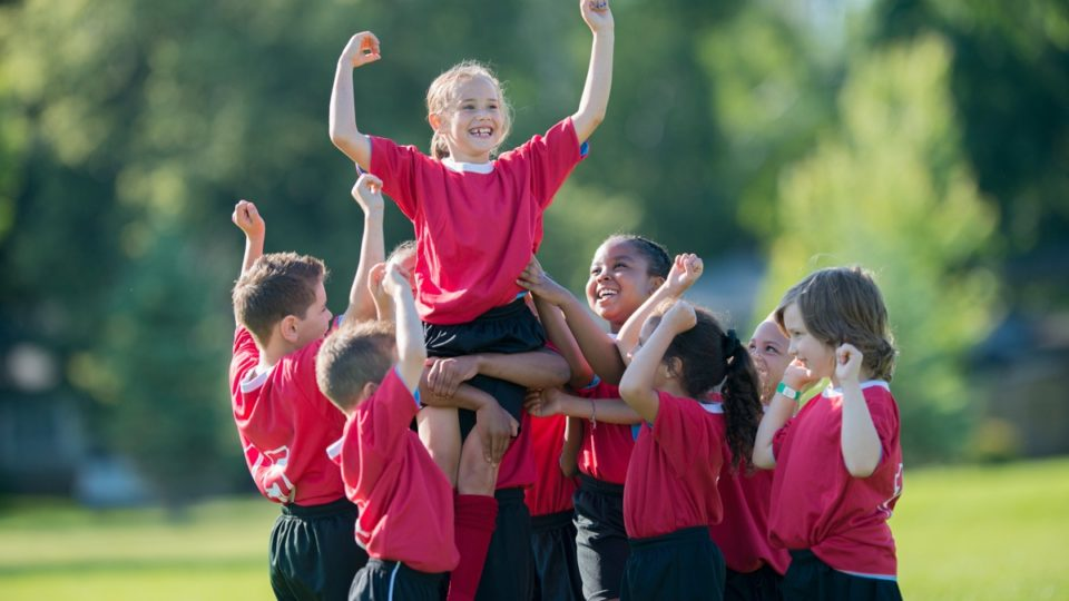 team sport play child soccer fun watching confidence player athletes friends teammate being football active young teammates things cheer well
