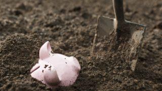 piggy bank dirt