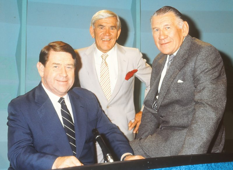 Ron Casey, Lou Richards and Jack Dyer combined on the Channel Seven 'World of Sport' show.
