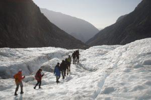 New Zealand hike snow