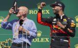 Daniel Ricciardo and Patrick Stewart