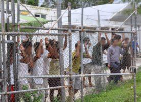 Manus Island detainees in 2014.