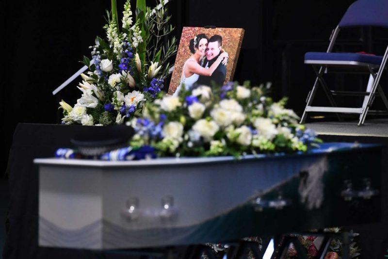 Brett Forte's coffin