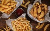 deep fried potato chips fries