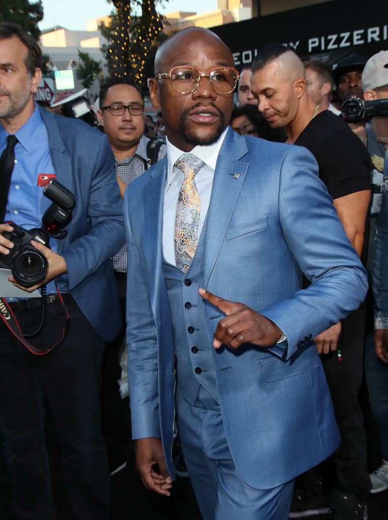 Floyd Mayweather is pictured in June in Los Angeles