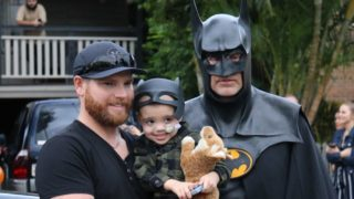 Jeff and Eli Vale with Batman