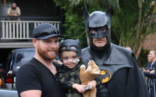 Jeff and Eli Vale with Batman
