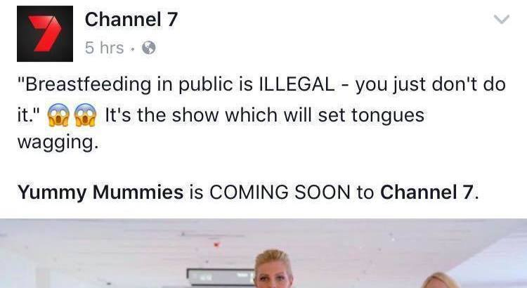 Channel Seven has been slammed after sharing a promotional video of one of the reality television stars saying breastfeeding in public is illegal