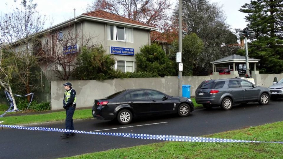 Police at the Buckingham apartments in Brighton