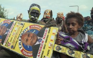 Supporters at election rally Port Moresby