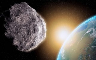 Asteroid moon impact earth meteor meteorite planets galaxy space