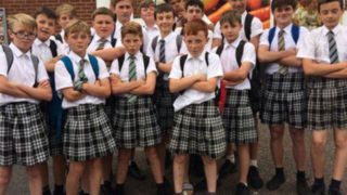 heatwave causes boys to wear skirts to school
