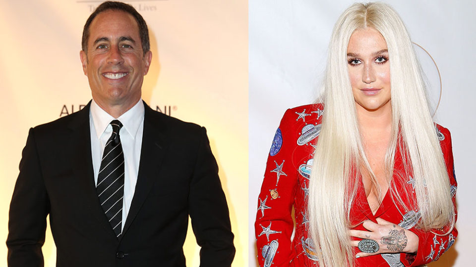 Jerry Seinfeld Refuses to Hug Kesha in Brilliantly Awkward Moment