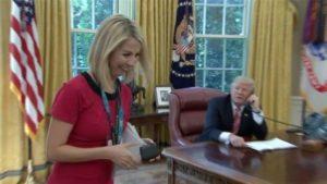 irish reporter and Donald Trump