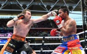 Jeff Horn won the July 2 fight against Filipino Manny Pacquiao during the WBO World Welterweight Title fight at Suncorp Stadium in Brisbane