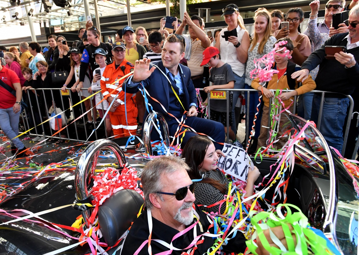 Jeff Horn honoured in a Brisbane parade on Thursday