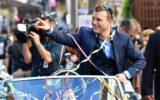 WBO World Welterweight Champion Jeff Horn is honoured in a ticker tape parade in Queen Street Mall, Brisbane, on Thursday