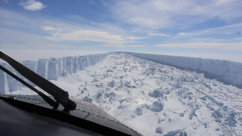 Antarctica iceberg calves from shelf