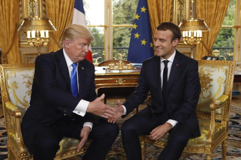 Trump Macron meeting