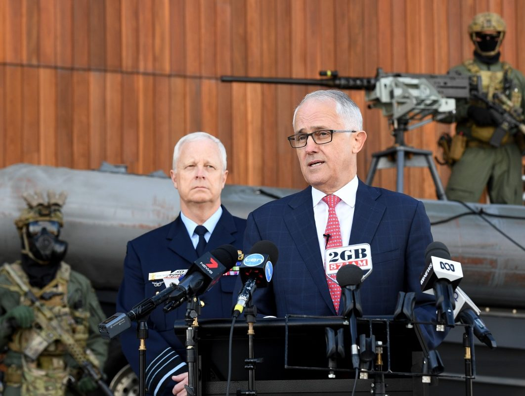 turnbull terror military defence
