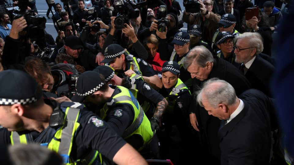 Chaos in Melbourne as Pell fronts court