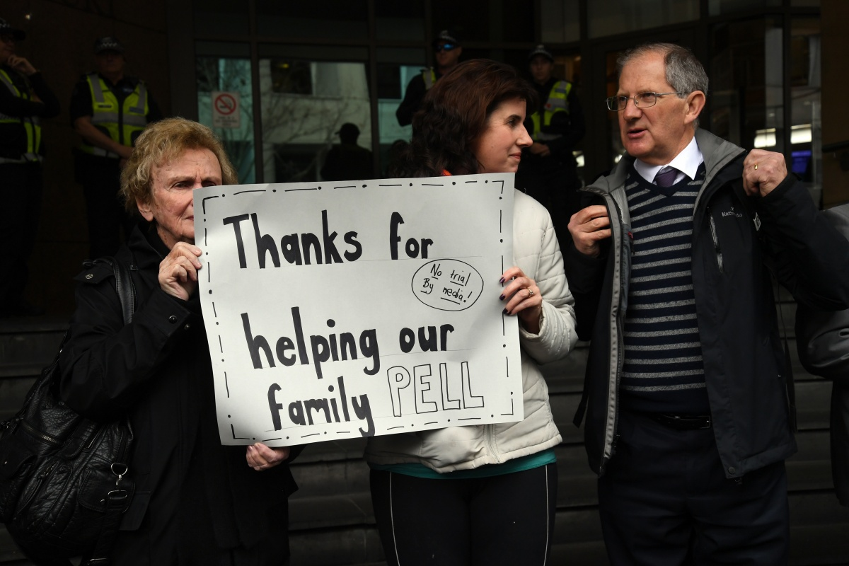 George Pell supporters