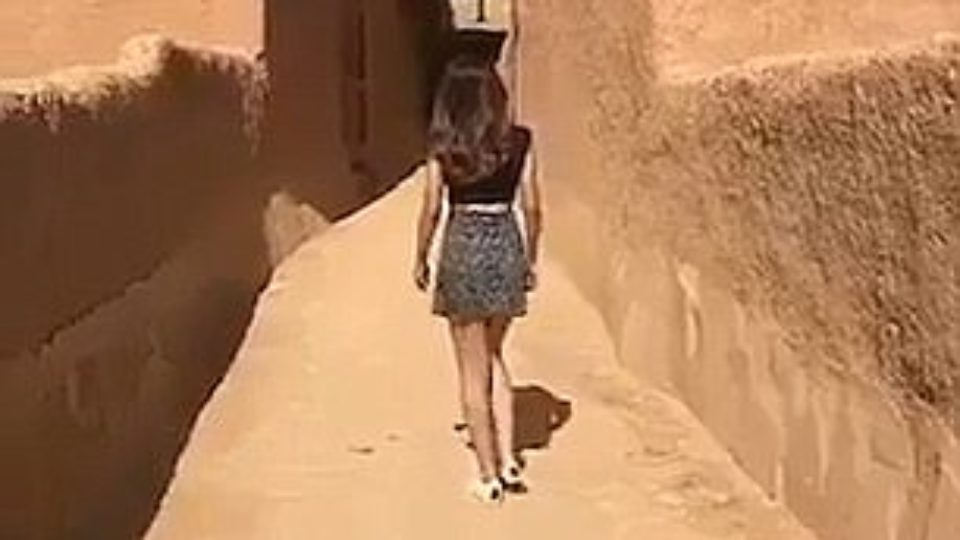 Saudi Arabian authorities are investigating after a local model reportedly wore a mini skirt and crop-top in public