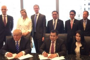 donald trump business deals with indonesia