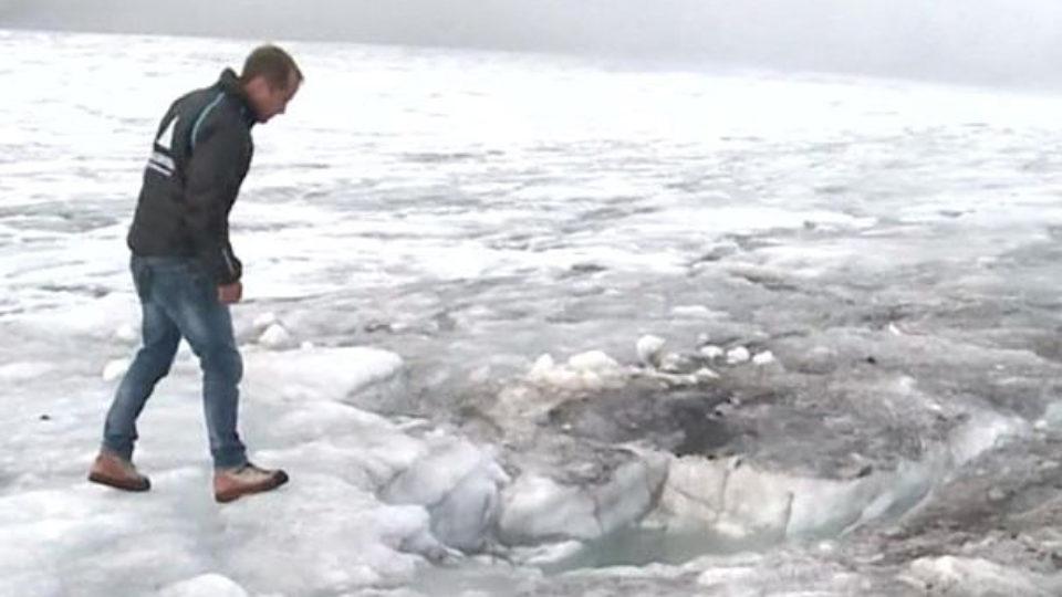 swiss glacier couple