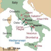 Ancient Roman concrete drill sites