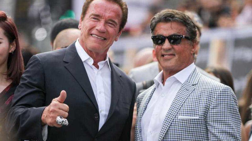 Arnold Schwarzenegger and Sylvester Stallone