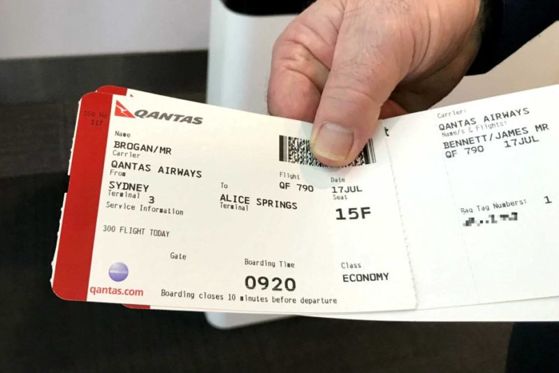 Brogan's boarding pass