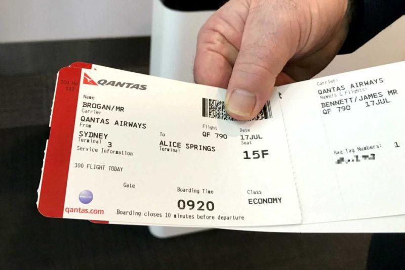 Brogan's boarding pass