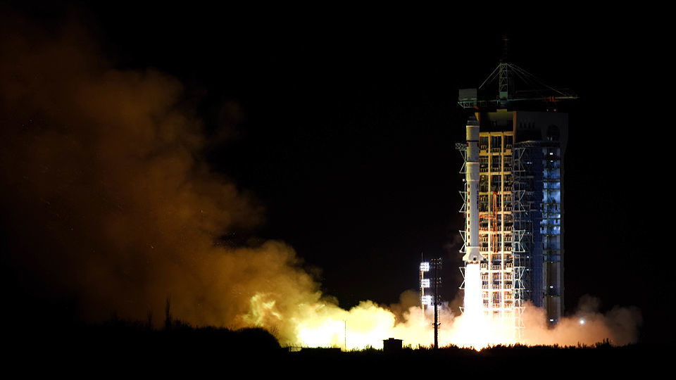 Chinese researchers have teleported a photon to a satellite in Earth's orbit, which was sent Micius, was last year sent Long March 2D rocket (pictured) last year