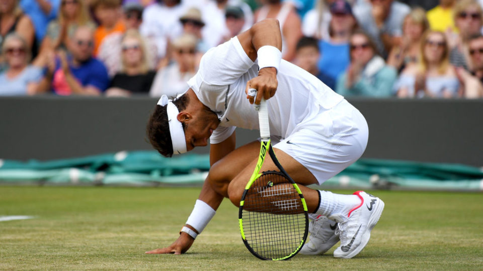 Rafael Nadal beaten by Gilles Muller in five-set Wimbledon classic