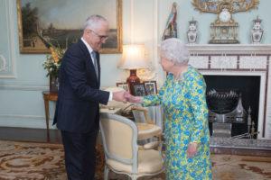 Malcolm Turnbull meets Queen Elizabeth